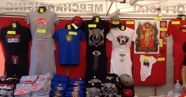 Merch via @pearljamCOL